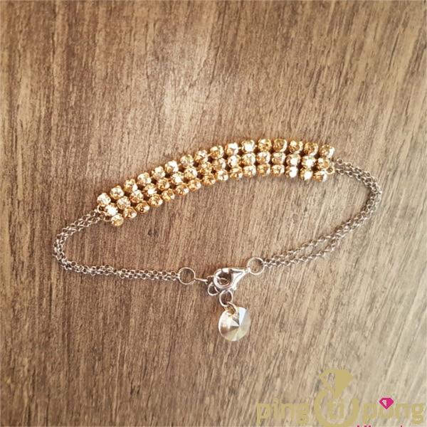 Bijou original : Bracelet strass de Swarovski elements doré de SPARK