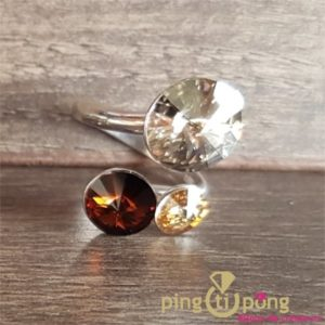 Bague bonbon marron SPARK