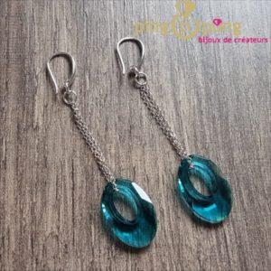 Boucles ellipses turquoise SPARK