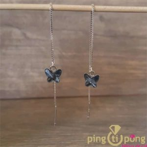 Boucles papillons bleu SPARK