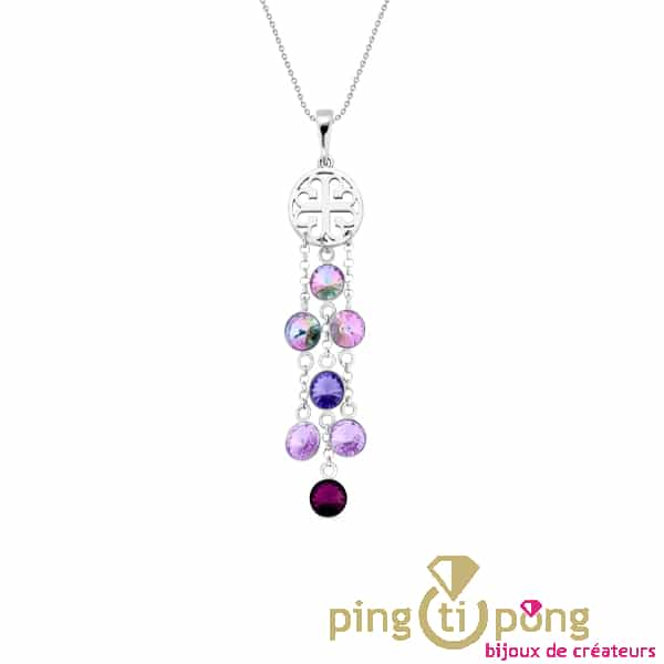 Silver necklace with Swarovski crystals from SPARK