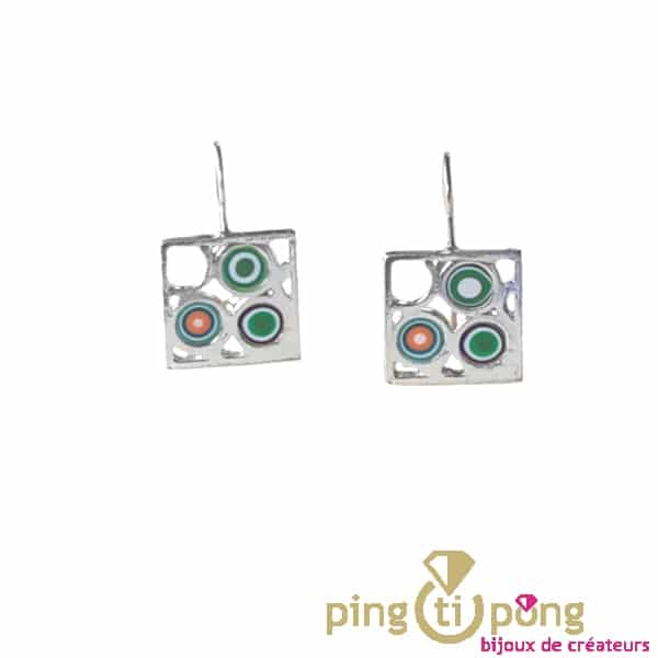 Pastacuita silver earrings