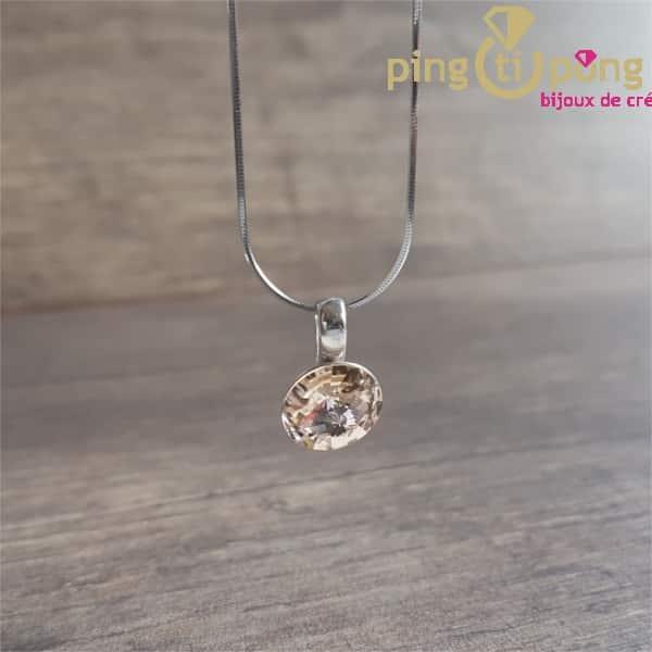 Collier en argent rhodié et cristal de Swarovski de SPARK