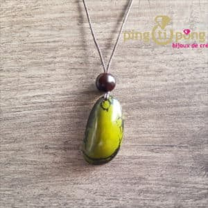Bijou nature : Collier tagua verte GREENAGE