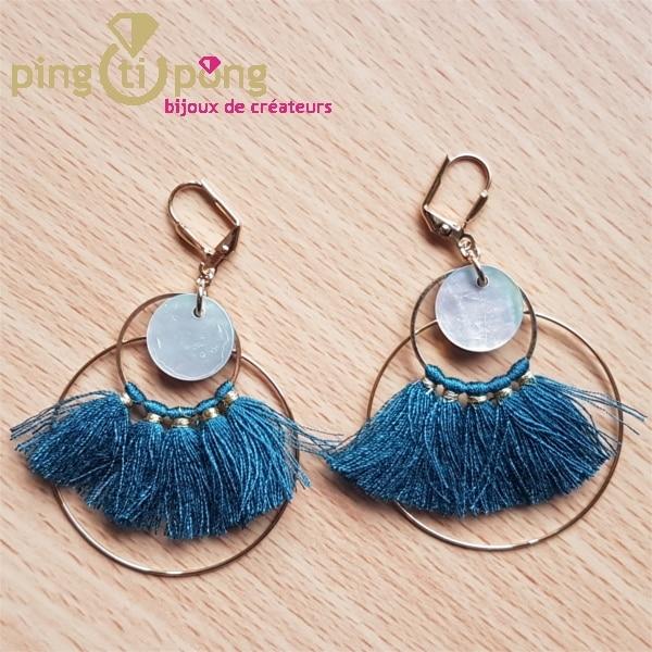 Boucles celeste bleu SARDINE