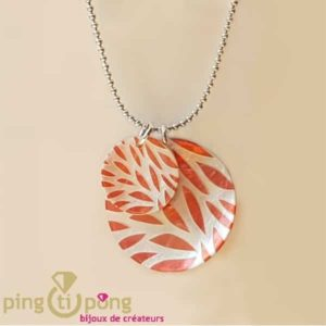 Mother-of-pearl coral necklace La Petite Sardine