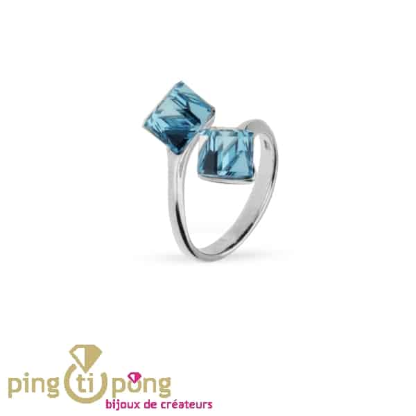 Ring SPARK blue cubes