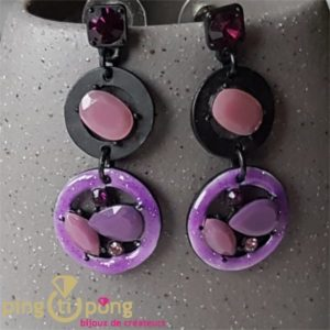 Boucles perles violettes Pure by Noa