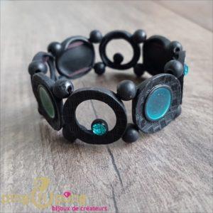 Bracelet noir mat