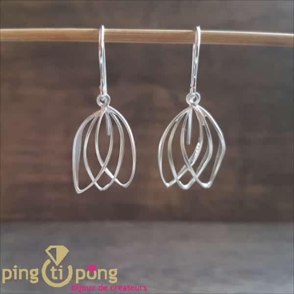 Original jewellery: earrings in brushed 925 silver from KELIM Design