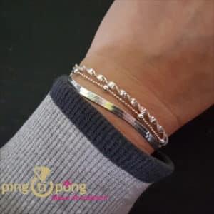 """Bijou en argent rhodié : Bracelet """"trio"""" en argent rhodié de CANYON"""