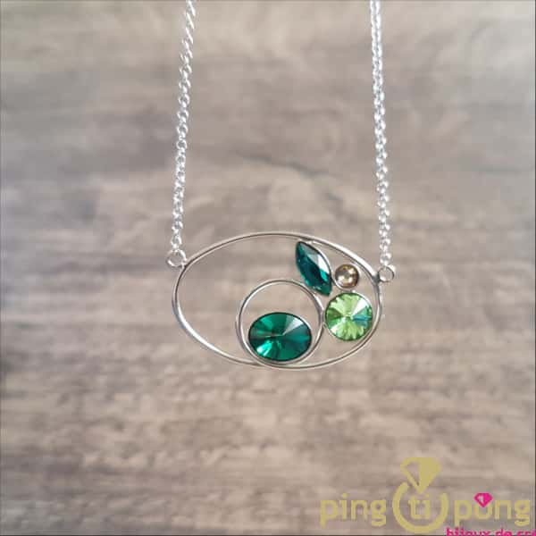Original jewel: Rhodium-plated silver and Swarovski crystals necklace from SPARK