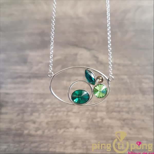 BIjou original : Collier en argent rhodié et cristaux de Swarovski de SPARK