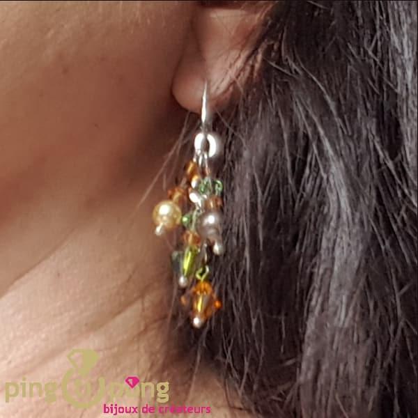 Bijoux en argent : Boucles Bouquet de SPARK