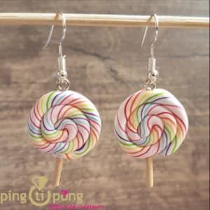 Bijoux fantaisie : Boucles sucettes lollipop de PINGTIPONG