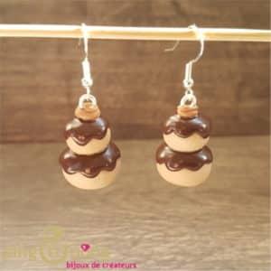 Bijoux gourmand : Boucles religieuses au chocolat PINGTIPONG