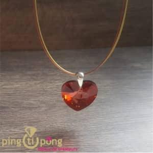 bIJOU ORIGINAL : Collier coeur XXL en cristal de SPARK