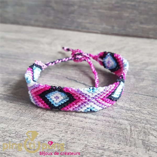 Bijou original : Bracelet brésilien violet By Olivier LAFOND